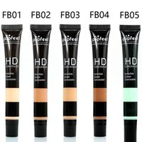 Wholesale Naked Skin Bb Cream - New Popfeel Brand Liquid Concealer Professional Makeup BB CC Cream Eye Face Primer Naked Skin Bronzer Foundation Base Maquiagem