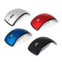 dobrar o mouse venda por atacado-2.4 Ghz Dobrável Dobrável Mouse Óptico Ratos Jogo Para Computadores de Mesa PC Notebook Laptop 50 pçs / lote Livre DHL