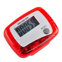 мини цифровой счетчик шагов оптовых-Wholesale- Hot Pocket LCD Pedometer Mini Single Function Pedometer Running Step Counter LCD Digital Walking LCD Counter With Box Package
