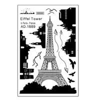 Wholesale Wall Stickers Paris - New Black PVC Paris Eiffel Tower Bird Fly Wall Sticker DIY Art Decal Home Bathroom Room Decoration Hot
