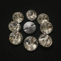 Wholesale Rivoli 16mm - Pointback Rivoli Sew On Stones Crystal Clear Color One Hole 8mm 10mm 12mm 14mm 16mm 18mm Round Sewing Glass Crystal Dress Making