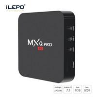 Wholesale Mx2 Box - MX2 MXQ PRO Quad Core Amlgoic S905W Android 7.1 TV BOX With Customized KD 17.4 TV Box 4K Media Player