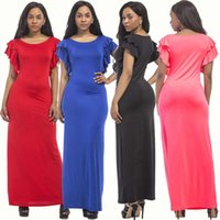 M-XXXL Plus Size Damen Damen Casual Fashion Long Maxi Kleider Cocktail Party Abendkleid Clubwear