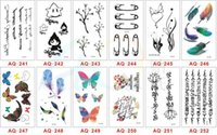 Wholesale Tattoo Legs Cat - 2016 new small pure and fresh and good rose cat letters harajuku waterproof tattoo paste stealth character tattoo stickers