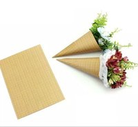 Wholesale Wholesale Ice Cream Packaging - Flower Packaging paper Kraft paper High-grade packaging Handmade Paper Mini bouquet ice cream sweet packaging barrels flowers 160pcs lot