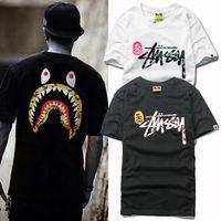 Wholesale Animal Sports Wear - New hot hats, tide brand leisure sports, street men's wear, shark printing T-shirt, men's casual T-shirt, short sleeve T-shirt