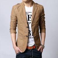 Wholesale Designer Blazers For Men - 2016 Autumn New Men Blazer Fashion Slim casual blazer for Men Brand Mens suit Designer jacket outerwear men 3 colors M~XXXXXL