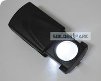 Wholesale Style Magnifier - Outdoor Microscope 30 X 21mm Drawer Style Pocket LED Magnifying Glass Mini Jeweler Magnifier Glass Loupe Equipment Free Shipping order<$18no