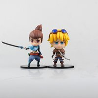 Wholesale Ezreal Figure - 2pcs Yasuo Ezreal Cute Lol Game Model Toys for Animation Collection and Kid Game Gift 10cm Action Figure 170619