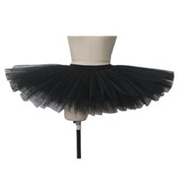 Wholesale Yellow Performance Tutu - Tutus 9 Layers Platter without pants and with CottonLycra Waistband for Ballet Dancing Performance Full Sizes 9 Colors Available
