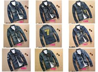 Wholesale Diamond Denim Jacket - Spring Fall-2016 New Cowboy Jacket Men Fashion Denim Water-washed Casual Jackets Male Clothes Chest Pocket Coat