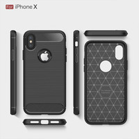 Wholesale Note Rugged - Rugged Armor Case for iPhone 8 Plus iPhone X Samsung Galaxy Note 8 with Anti Shock Absorption Carbon Fiber Design