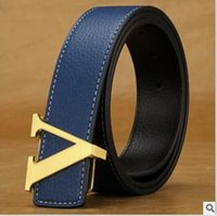 Wholesale Bronze Jeans - New Arrival Italian Leather Belt Men High Quality Jeans Belt Brand Vintage Strap for Men Black Coffee Color Casual Waistband.