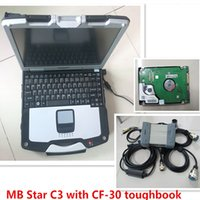 Wholesale Star Tester - 2016 Top Quality MB Diagnostic Multiplexer Tester MB Star C3 and P-anasonic CF30 Laptop with HDD installed well ready to use