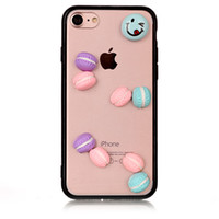 Wholesale Cartoon Hard Plastic Back Cover - For iPhone 6 7 6s plus Candy Cartoon Cute DIY Hard Case Acrylic Transparent Back Cover For Samsung S8 s8plus