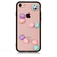 Pour iPhone 6 7 6s plus Candy Cartoon Cute DIY Hard Case Acrylique Transparent Back Cover Pour Samsung S8 s8plus
