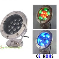 4PCS 15W DC24V LED subaquática Dock Light RGB LED Pool Luzes de pesca Exterior Garden Lamp Luzes de piscina