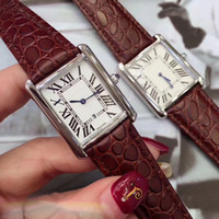 Wholesale Valentine Gifts For Couples - AAA Lovers men women watches couple dress luxury brand Genuine Leather strap quartz watch for mens ladies Valentine Gift wristwatches 2018