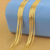 Wholesale Yellow Gold Chain 22 - wholesale Free Shipping 5PCS 22 Inches 18K Yellow Gold Filled Necklaces Chain 1.8MM For Pendant With Lobster Clasps  Lots New