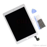 Wholesale Ipad White Digitizer Lcd - Freeshipping 100% New LCD Assembly for ip ad air 2 white display assembly (LCD & Digitizer Front Panel) Wholesales MOQ:5pcs