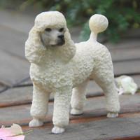 Wholesale Decoration British - British Brand Poodle Simulation Dog Figurine Crafts Mini White Terrier Decoration Figurine Crafts with Polyresin for Office Decoration