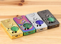 Wholesale Metal Lighters For Sale - double-side usb arc lighter metal electronic cigarette windowproof diamond face lighter 4 colors to choose for smoking pipe sale