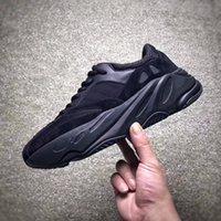 Wholesale Anti Shock Sneaker - Runner boost 700 running Shoes black cool adults sneaker men anti-slip By epacket y3factory damping shock absorption Sneakers store EU40-45