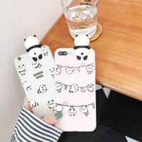 3D mignon Cartoon Squishy Chine Panda Bears Fundas Soft Case pour iPhone 6 6S 7 Plus