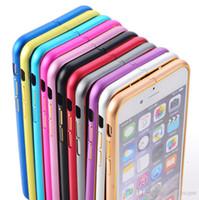 sert metal tampon çerçeve kılıfı kapağı toptan satış-Yeni Lüks Alüminyum Metal Çerçeve Tampon kılıf iphone 7 6 artı İnce İnce Sert Çerçeve Tamponlar Kapak Kılıf çift renk