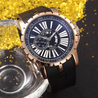 Wholesale Easy Diver - Easy Diver New Luxury Brand Rome digital mark 18K Rose Gold Big dial 48mm Automatic watch Mens Watch rubber strap watch High quality
