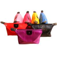 toilettenartikel reisetasche großhandel-2016 10 Farben Hohe Qualität Dame Make-Up Beutel Kosmetik Make-Up Tasche Clutch Hängende Toilettenartikel Travel Kit Schmuck Veranstalter Casual Geldbörse