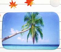 Wholesale Coconut Bath - 40*60cm Coconut Palm Bath Mats Anti-Slip Rugs Coral Fleece Carpet For For Bathroom Bedroom Doormat Online