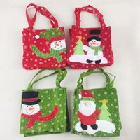 Wholesale Outdoor Reindeer Decorations - Christmas Gift Candy Bags Large Organic Heavy Canvas Bag Santa Sack Drawstring Bag With Reindeers Santa Claus Sack Bags for kids 171029