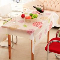 Wholesale 130 cm Rectangle waterproof dinning tablecloths table covers fashion table mat