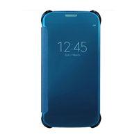 ingrosso guarda la copertura di caso flip iphone-NOVITÀ Per Galaxy S7 Custodia protettiva Vista specchietto Trasparente Custodia Flip Cover Protezione iperbolica Protezione completa con pacchetto di vendita