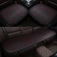 Wholesale Leather Chair Pads - 3PCS Seat Protector Mat Universal Car Seat Cover Breathable Seat Cushion covers leather Car Chair Pad Car-styling