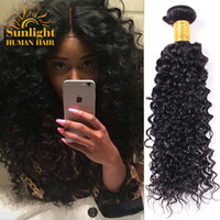 Wholesale Deep Wavy Virgin Hair - Brazilian Virgin Hair Curly 3 Bundles Deals Remy Human Hair Deep Wave Brazilian Hair Bundles Weaves Wet And Wavy Human Hair Weave Bundles