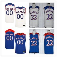 Wholesale Kansas Royals Jersey - Mens Kansas Jayhawks College Basketball Custom #4 7 8 11 22 40 White Royal Blue Stitched Personalized Any Name Any Number Jerseys S-3XL