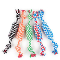 Wholesale Quality Dog Toys Wholesale - Dog Rope Fun Pet Chew Knot Toy Cotton Stripe Rope Dog Toy Durable High Quality Dog Accessories Drop Shipping