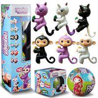 Wholesale Wholesale Hot Monkey - NEW hot 7cm lol Surprise Doll fingerlings Baby Monkeys Unicorn Surprise Egg Ball action figure toys Christmas gift No function