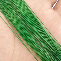 Wholesale Nylon Coated Steel Wire - 50pcs Green Nylon Coated Stainless Steel Fishing Line Wire Leaders 20cm 25cm Trace Fishing Steel Wire Test 20lb