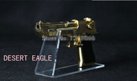 Wholesale Bigger size Clear acrylic pistols holder gun display stand shoes display stand gun holder rack desktop