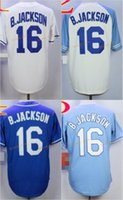 Wholesale Cool Cities - 2017 Majestic Official Cool Base Stitched Kansas City #16 Bo Jackson White BLue Gray Gold Jerseys Mix Order