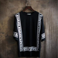 Wholesale Washing Collared Shirts - Palace Format Short Sleeve T Shirt Fashion Leisure Unlined Upper Garment Loose Blouse Round Collar Big Yards of Clothes T Shirts Very good