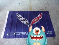 Wholesale File Printing - corvette purple flag , can custom print file,90X150CM size,100% polyster,corvette purple banner 100% polyester