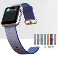 New arrvial Para a Apple Watch Band Tecido Nylon Band of Layers Bracelet Wrist Strap pulseira de metal clássico Buckle com adaptadores DHL OTH212