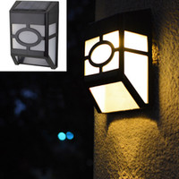 Wholesale Solar Stair Led Light - Free DHL Solar Powered Wall Mount LED Light Outdoor Garden Path Landscape Fence Yard LED Light Pathway Lights Lamp Home Stair GZ-L01