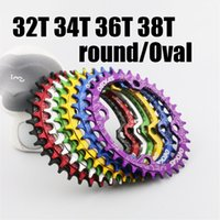 Wholesale Chainring Bcd - Catazer Newest 104 BCD Bike Bicycle Narrow Wide Chainring Oval Round Chainwheel 32T 34T 36T 38T With 7 Colors Choose