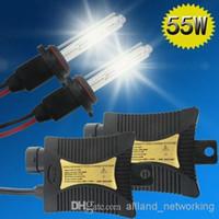 Wholesale Kit Xenon Halogen - US Stock! 55W HID Xenon Headlight Kits H1 H7 4300k 6000k 8000k 10000k Car LED Bulbs Conversion High Low Beam Halogen Free Shipping