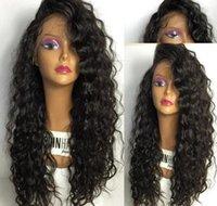 ingrosso parrucche incollate africano americane-Parrucche piene del merletto per le parrucche afroamericane dei capelli umani Migliori parrucche anteriori glueless del pizzo di Wave del corpo di Glueless